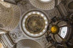 Церковь Val de Грейса, Парижа, Франции Стоковая Фотография