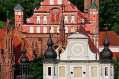 церковь vilnius стоковое изображение rf
