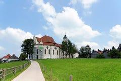 Церковь Wieskirche, Steingaden в Баварии, Германии Стоковое фото RF