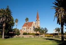 церковь windhoek christ стоковое изображение rf