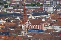 Церковь Wurzburg Marienkapelle, Германия Стоковое фото RF