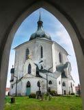 Церковь Zelena Hora, ориентир ориентир паломничества, ЮНЕСКО Стоковое Изображение