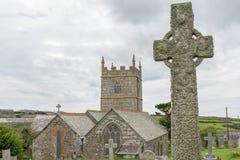 Церковь Zennor в Корнуолле Англии Стоковое фото RF