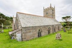Церковь Zennor в Корнуолле Англии Стоковое Изображение