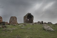 Церковь Zoravar Святого в Yeghvard Армении Стоковые Изображения