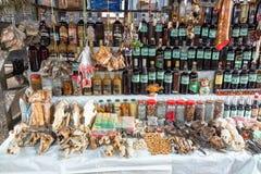 Целебный рынок в Iquitos, Перу Стоковые Изображения RF