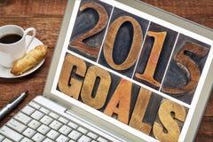 2015 целей в деревянном типе Стоковые Изображения RF