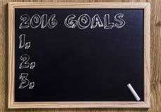 2016 целей Стоковое фото RF
