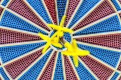 3 цели запачканной в глазе быков dartboard Стоковые Фото
