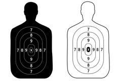 2 цели плана стрельбы человека Стоковое Фото