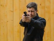 Цели человека от пистолета Стоковое Изображение RF