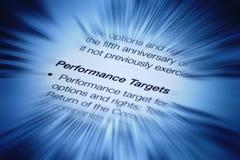 Цели эффективности бизнеса Стоковое фото RF
