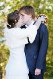 Целовать жениха и невеста стоковое изображение