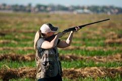 Цель взятий охотника голубя Стоковые Фото