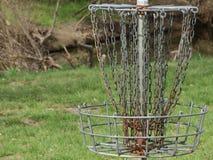 Цель гольфа Frisbee стоковое фото rf