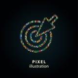 Цель - иллюстрация пиксела Стоковое Изображение RF