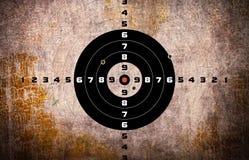 цель пулевых отверстий Стоковая Фотография