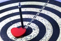 Цель сердца для концепции любовника Стоковые Изображения RF