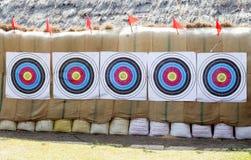 Цель стрелки для тренировки абстрактной предпосылки Стоковое Изображение RF