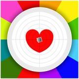 Цель с сердцем Стоковая Фотография RF