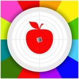Цель с яблоком Стоковое Изображение