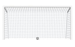 Цель футбола с шариком иллюстрация вектора