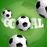 Цель футбола футбольного мяча Стоковая Фотография