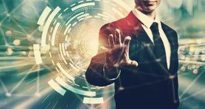 Цель цифров с бизнесменом стоковое изображение rf