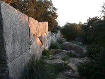 Циклопические стены стоковая фотография rf