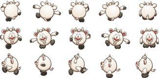 Цикл прогулки козы шаржа Стоковые Фото