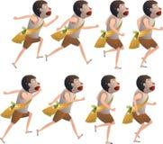 Цикл бега мальчика Стоковая Фотография RF