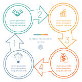 Циклы Infographic 4 положения Стоковое фото RF