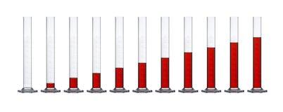 цилиндры измеряя рядок стоковое фото rf