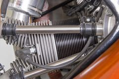 Цилиндр радиального двигателя поршеня Стоковое Изображение RF