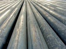 Цинк-покрытые стальные трубы Стоковая Фотография RF