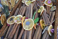 Циннамон и лимон Стоковые Фото