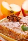 циннамон торта яблока стоковая фотография rf