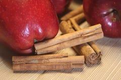 циннамон яблок стоковые фото