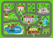 Циновка игры дороги для детей деятельности и развлечений Стоковые Фотографии RF