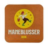 Циновка пива Maneblusser Bok белизна изолированная предпосылкой Стоковое Фото