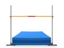 Циновка посадки высокого прыжка иллюстрация штока