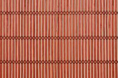 циновка предпосылки покрашенная бамбуком Стоковая Фотография RF