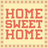 циновка 8-разрядного дома пиксела сладостная домашняя иллюстрация штока