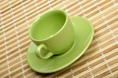циновка чашки Стоковая Фотография