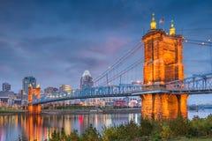 Цинциннати, Огайо, горизонт США Стоковое фото RF