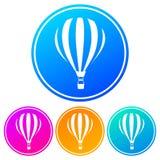 Циркуляр, значок воздушного шара градиента горячий 4 изменения цвета иллюстрация штока