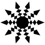 Циркуляр, радиальный абстрактный элемент на белизне Излучать форму с иллюстрация вектора