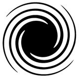 Циркуляр, радиальный абстрактный элемент на белизне Излучать форму с иллюстрация штока