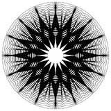 Циркуляр, излучая абстрактную форму, мотив Elem геометрического дизайна иллюстрация вектора
