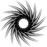 Циркуляр, излучая абстрактную форму, мотив Elem геометрического дизайна бесплатная иллюстрация